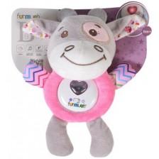 Бебешка музикална светеща играчка Kaichi - Розова -1