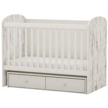 Бебешко легло-люлка Arbor - Рини, сив антик и лумината -1