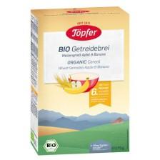 Безмлечна био каша Töpfer - Пшеничен грис, ябълка и банан, 175 g -1