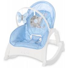 Бебешки шезлонг Lorelli - Enjoy, Tender Blue Fun -1