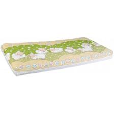 Бебешки матрак с пяна Lorelli - Holiday, Green Sheep, 60 х 120 cm -1