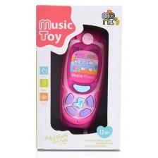 Moni Бебешки Телефон с Бутони K999-72B розов -1