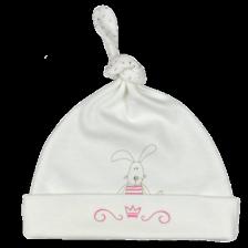 Бебешка шапка с възел For Babies - Зайче, 3-6 месеца -1