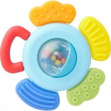 Бебешка силиконова дрънкалка Haba, Пъстра  -1