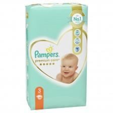 Бебешки пелени Pampers - Premium Care 3, 60 броя  -1