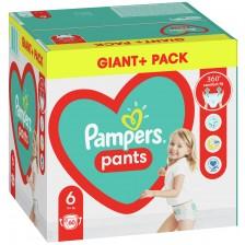 Бебешки пелени гащи Pampers 6, XL, 60 броя  -1