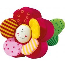 Бебешка мека играчка Haba, Цвете и пеперуда -1