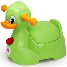 Бебешко гърне OK Baby - Пате, зелено -1