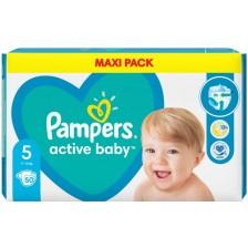 Бебешки пелени Pampers - Active Baby 5, 50 броя  -1
