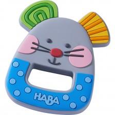 Бебешка силиконова гризалка Haba, Мишле -1