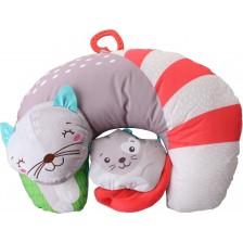 Бебешка възглавница Clementoni Baby - Kitty Cat, със залъгалка, асортимент -1