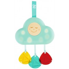 Бебешка музикална играчка Hape - Светещо облаче -1