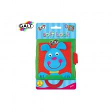 Бебешка играчка Galt - Мека книжка с дръжка, домашни животни -1