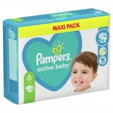 Бебешки пелени Pampers - Active Baby 6, XL, 44 броя  -1