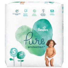 Бебешки пелени Pampers - Pure 5, 24 броя  -1