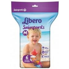 Бебешки пелени тип бански Libero - Swimpants M, 6 броя  -1