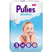 Бебешки пелени Pufies Sensitive 5, 48 броя -1