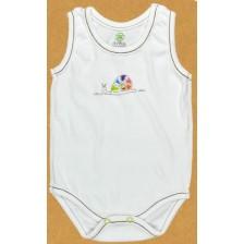 Бебешко боди потник For Babies - Цветно охлювче, 1-3 месеца -1