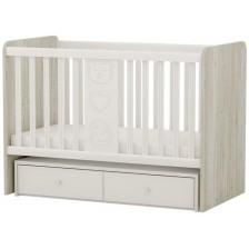 Бебешко легло-люлка Arbor - Рини Фън, дъб гоби и бяло -1