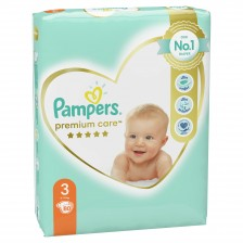 Бебешки пелени Pampers - Premium Care 3, 80 броя