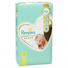 Бебешки пелени Pampers - Premium Care 1, 52 броя  -1