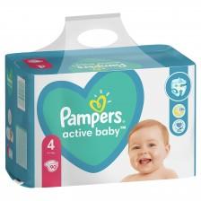 Бебешки пелени Pampers - Active Baby 4, 90 броя  -1