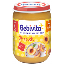 Плодово пюре Bebivita - Праскова, 190 g -1