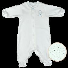 Бебешко гащеризонче с дълги ръкави For Babies - Мече, лимитирано, 50 cm -1