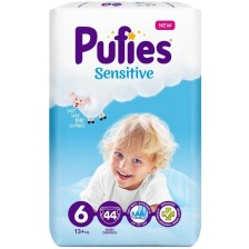 Бебешки пелени Pufies Sensitive 6, 44 броя -1