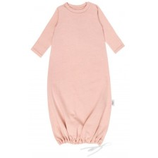 Бебешка нощница Egos Bio Baby - Органичен памук, розова -1