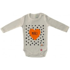 Бебешко боди Rach - Merci, 92 cm, оранжево -1