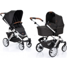Бебешка количка с твърд кош ABC Design - Salsa 4, черна -1