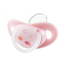 Силиконова залъгалка Bebe Confort Premium Natural Physio - 6м+, 2 броя, розови -1