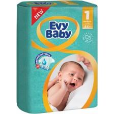 Бебешки пелени Evy Baby - Newborn 1, 44 броя  -1