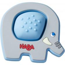 Бебешка силиконова гризалка Haba - Слон -1