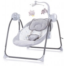 Бебешка люлка Chipolino - Гуш-Гуш, сива -1