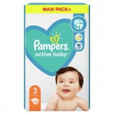 Бебешки пелени Pampers - Active Baby 3, 70 броя  -1