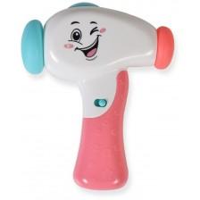 Бебешка играчка Moni - Чукче, K999-119G, розово -1