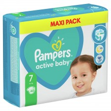 Бебешки пелени Pampers - Active Baby 7, Xl, 40 броя  -1