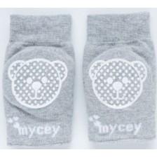 Бебешки наколенки Mycey - сиви -1