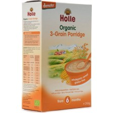 Био безмлечна каша Holle - 3 вида зърна, 250 g -1