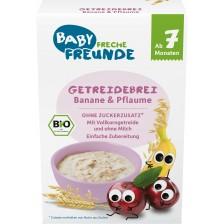 Био плодова каша Freche Freunde - Слива и банан, 200 g -1