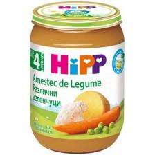 Био зеленчуково пюре Hipp - Различни зеленчуци, 190 g -1
