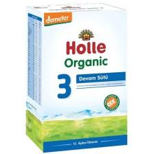 Био мляко за кърмачета Holle Organic 3, 600 g -1