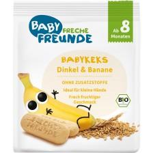 Био бебешки бисквити Freche Freunde, спелта и банан, 100 g -1