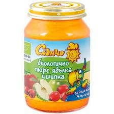 Био плодово пюре Слънчо - Ябълка и шипка, 190 g