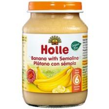 Био плодов десерт Holle - Банани с грис, 190 g -1