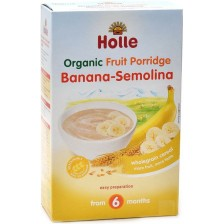 Био безмлечна каша Holle - Грис и банан, 250 g -1