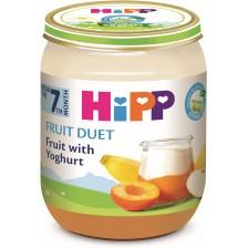 Био плодово пюре Hipp Fruit Duet - Йогурт с плодове, 160 g