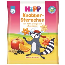Био хрупкави гризини Hipp - Звездички, с плодове, 30 g -1